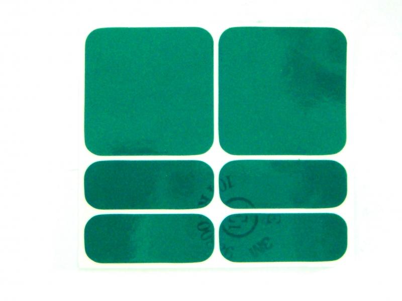 samolepka reflexní SHAMAN zelená 6ks