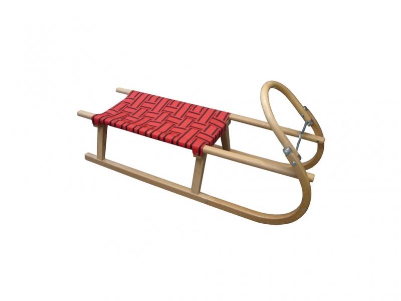 saně dřevěné s popruhy na sedáku 105